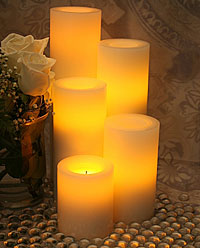 illuminate any room of your home as well as outdoor settings with the warm glow of a candle not only can you enjoy the glow and flicker